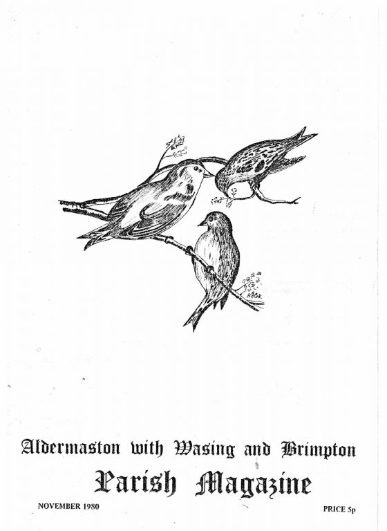 Parish mag cover- birds, Nov 1980