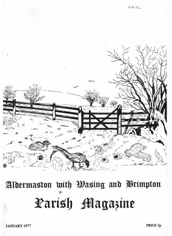 Parish mag cover- pheasants, Jan 1977