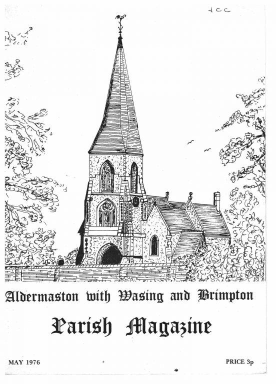 Parish mag cover- St Peter's Church, Brimpton, May 1976