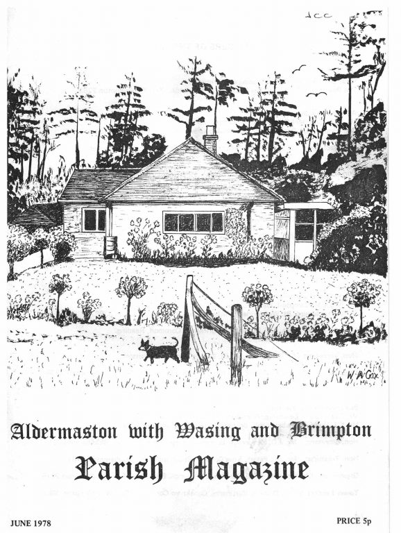 Parish mag cover- unidentified bungalow, June 1978
