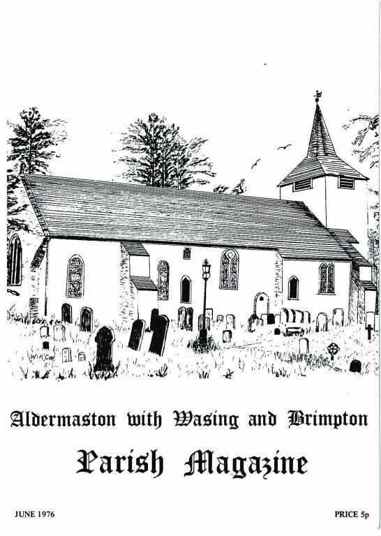 Parish mag cover-St Marys Aldermaston, June 1976