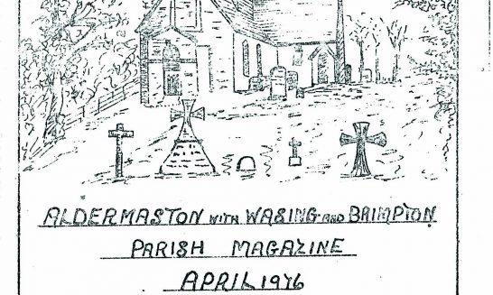 Parish mag cover- St Nicholas, Wasing- April 1976