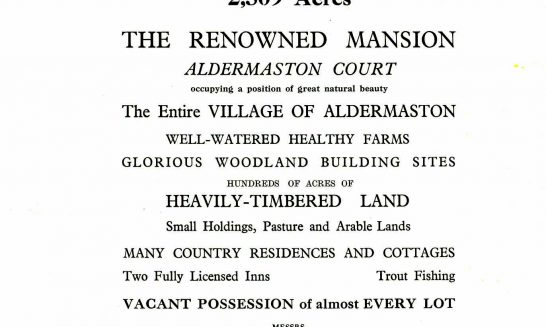 Sale of the Aldermaston Estate in 1939