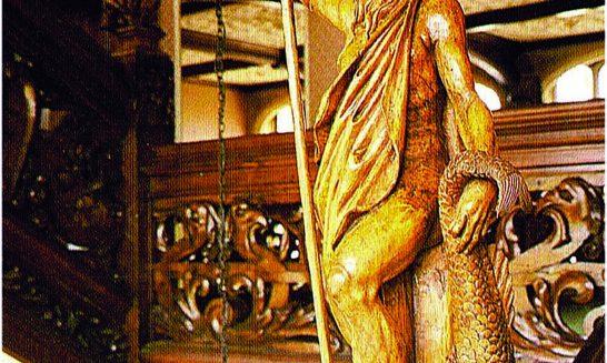 Manor House 1851- statue of Neptune 3