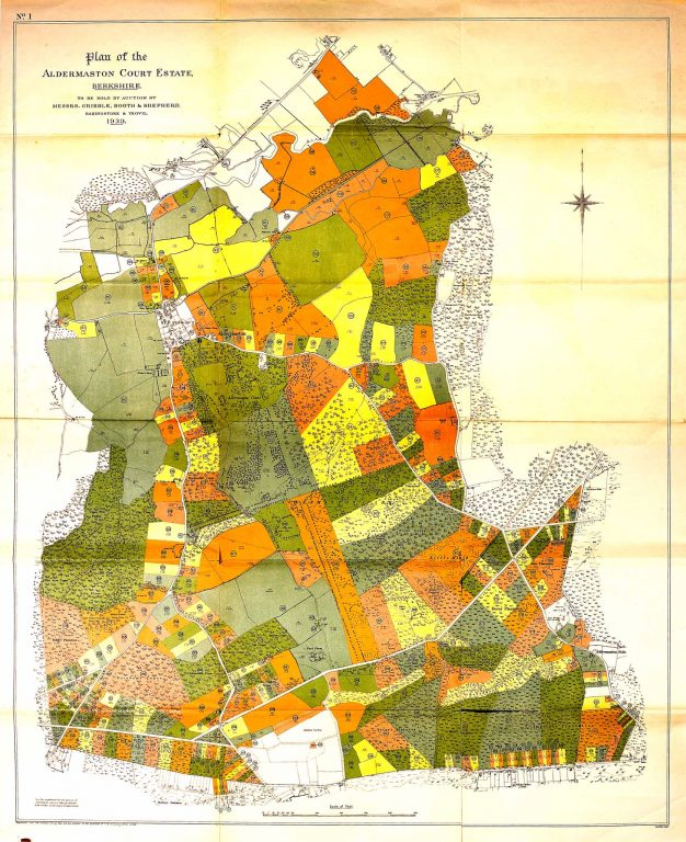This huge map, perhaps 2 metres tall, accompanied the brochure and shows all the lots for sale.