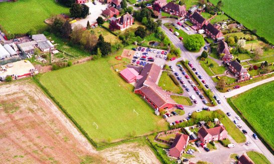 Aldermaston's primary school from the air