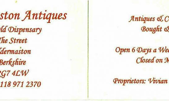 Aldermaston /Businesses - Aldermaston Antiques