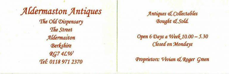 Aldermaston /Businesses - Aldermaston Antiques