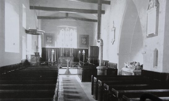 Images of St Mary's interior before 1896 restoration