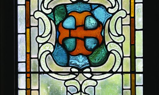 Aldermaston Manor House 1851- stained glass windows. Comments after the photographs