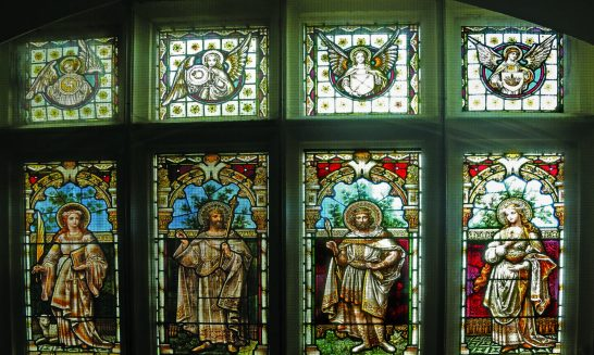 Manor House 1851 library 14 Saints window right