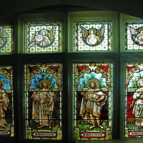 Manor House 1851 windows 14 Saints window right