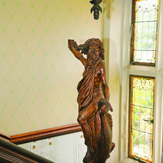 Manor House 1851- statue of Neptune 4