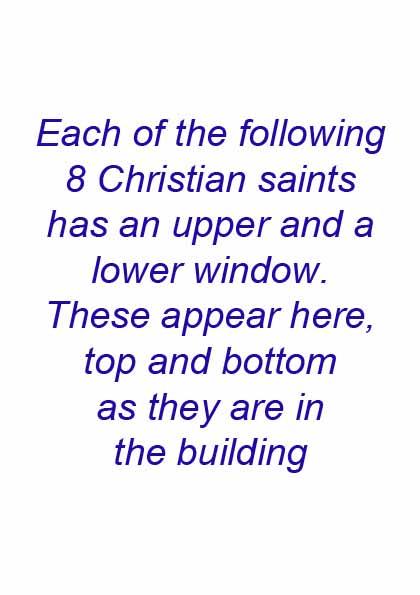 Manor House 1851 windows- Saints preface