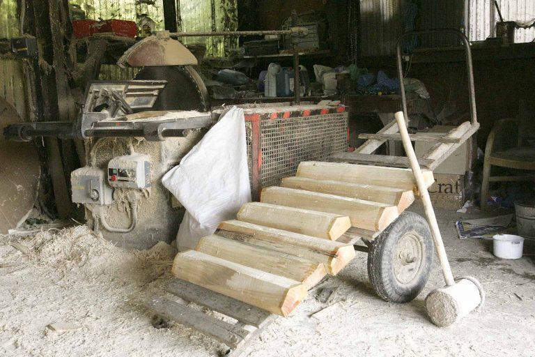 Aldermaston Businesses- Cricket Bats: sawing starts | Peter Oldridge