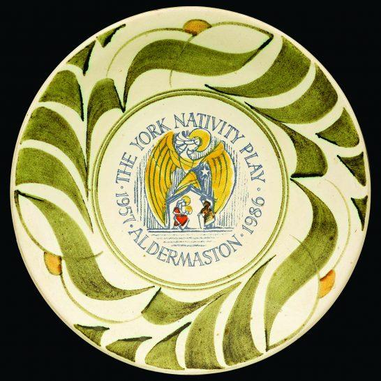 Aldermaston Ceramics- YNP 30th plate in green