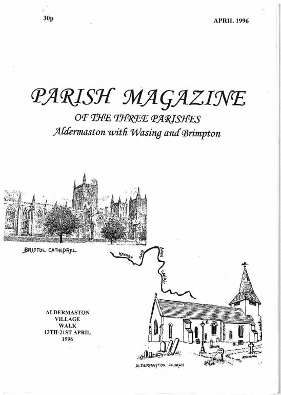 Parish mag cover April 1996