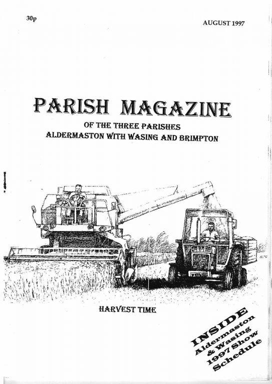 Parish mag cover August 1997