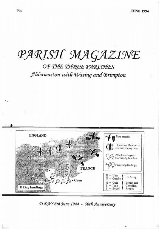 Parish mag cover June 1994