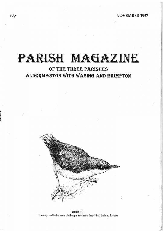 Parish mag cover Nov 1997