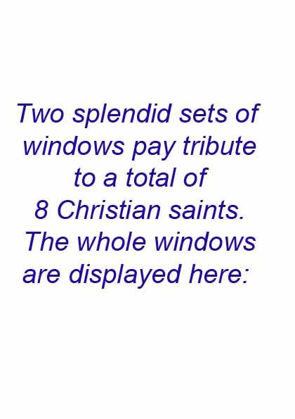 Manor House 1851- preface to 2 saints' windows