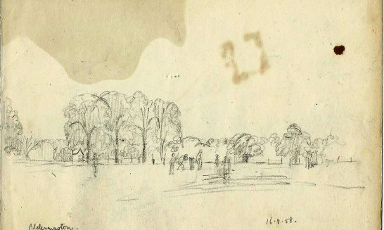 Christopher Hall's Aldermaston drawings