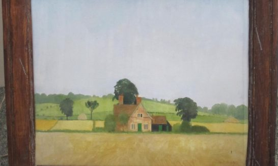 Lost cottages revealed in painting by Christopher Hall