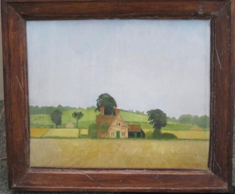 Lost cottages revealed in painting by Christopher Hall | Mary Ball